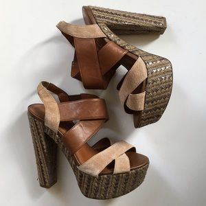 Jessica Simpson Shoes - Sale! Save $5 - Tan Jessica Simpson platform heels