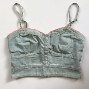 American Eagle Outfitters Tops - American Eagle chambray crop top