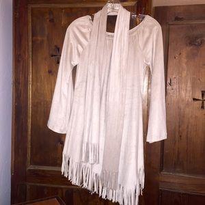 Fringe Faux Suede Tunic Dress