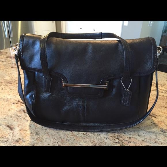 60 off coach handbags coach taylor leather marin flap