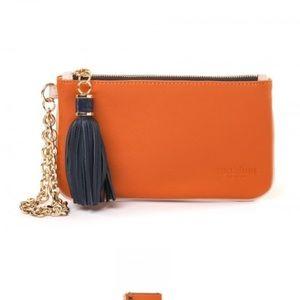 Spartina 449 Orange wristlet