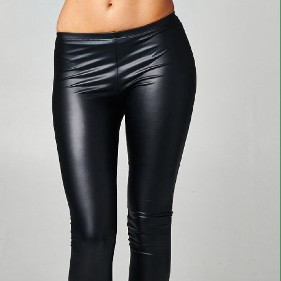 56% off Umbrella Club Pants - Vegan Faux Leather Leggings Stretchy ...