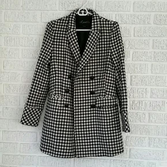 Forever 21 Jackets Amp Coats Houndstooth Coat Poshmark