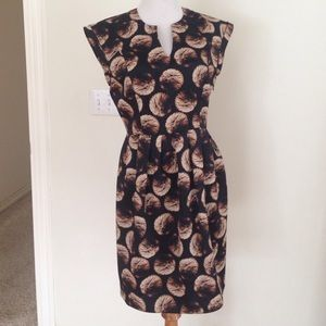 Halston Heritage Black Firework Print Dress