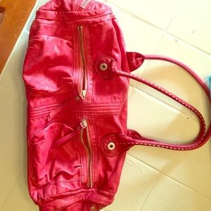 Red leather gap bag