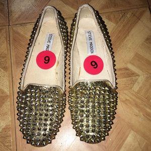 Steve Madden Gold Loafers
