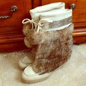 Coach Maryann Rabbit Fur Boots
