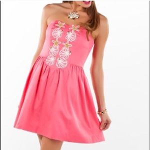 Lilly Pulitzer coral mayfield dress