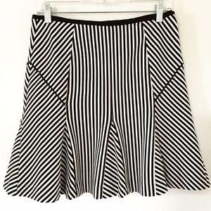 Banana Republic black and white striped mini skirt