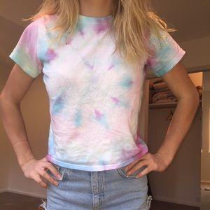 Homemade tie dye t shirt.