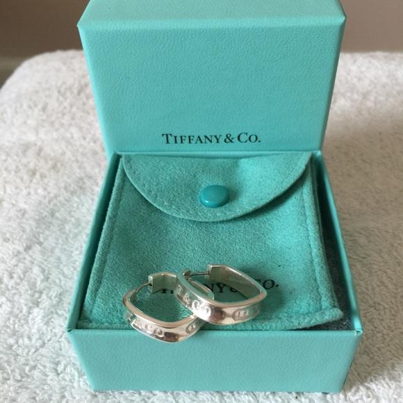 66f9008b27766 Tiffany&Co 1837 Square Hoop Earrings.