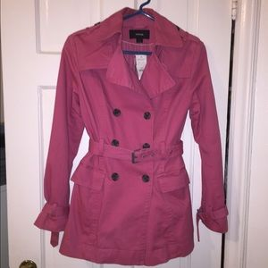  Express Medium Pink Short Trench Coat Size XS
