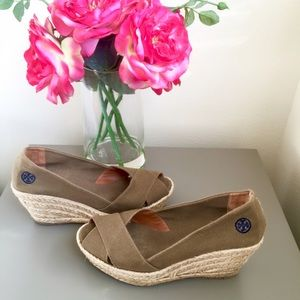 Tory Burch Espadrilles Wedges 8