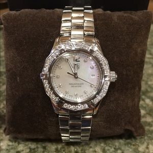 Tag Heuer Accessories - TAG Heuer Aquaracer Diamond Mother of Pearl Wartch
