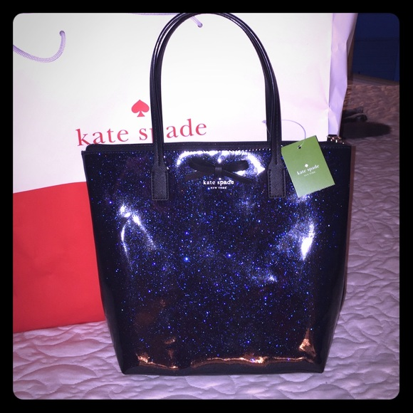 25% off kate spade Handbags - Kate Spade Glitter Bag Blue and ...