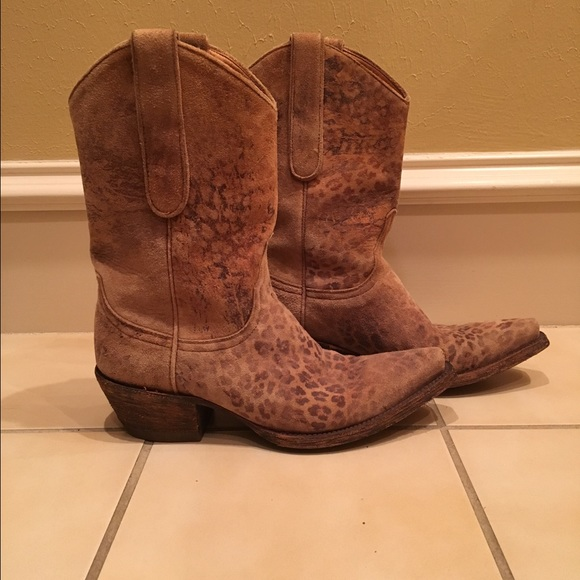 a2a11153ca7 Old Gringo leopardito suede boots