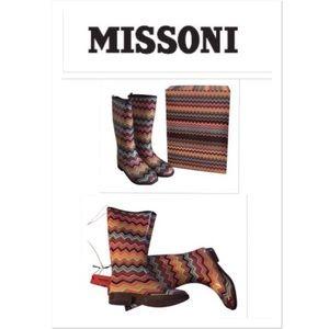 Missoni for Target Rainboots