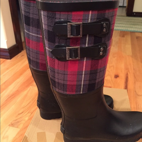 hot sale online drop shipping best shoes ⚡️Flash Sale⚡️ Ugg plaid rain boots