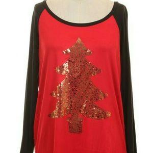 Tops - New sequin christmas tree tunic