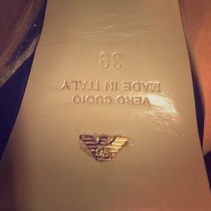 Emporio Armani block heels