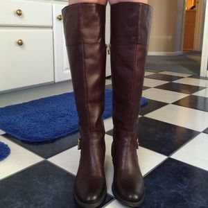 Vince Camuto knee high Italian Leather Boots