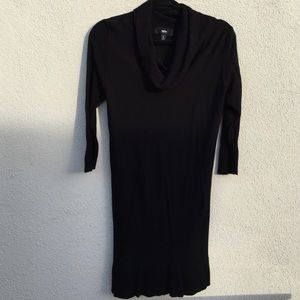 Cowl neck sweater tunic dress