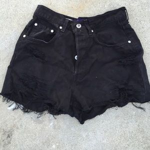 Distressed high shorts