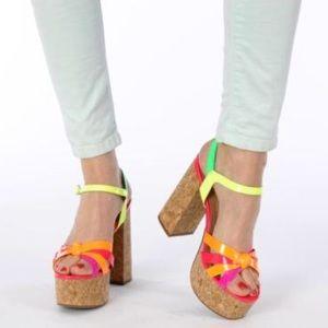 Jeffery Campbell Multicolored Heels