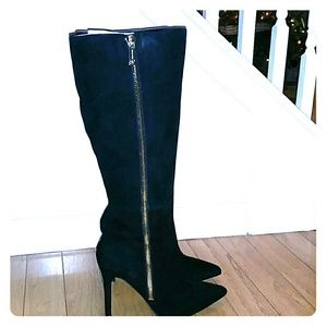 Jessica Simpson Knee length  Suede Stilletto Boots