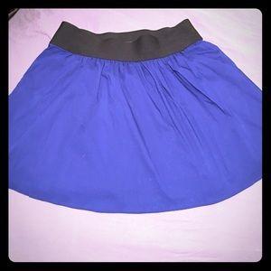 NWT Express royal blue full skater skirt
