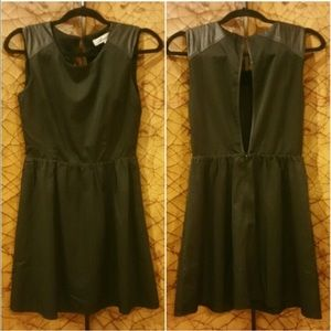 Francesca's Black Mini Cutout Dress