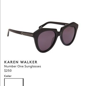 Karen Walker Accessories - Karen walker number one sunglasses smoke/ black