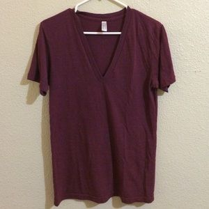 American Apparel deep v-neck