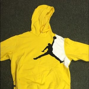 yellow and black jordan hoodie