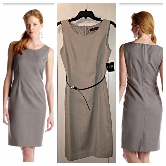 c7b6d0a2d4b 💥HOST PICK💥 Kasper Melange Belted Sheath Dress