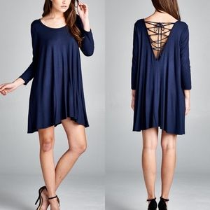"""Labyrinth"" Lace Up Back Dress"