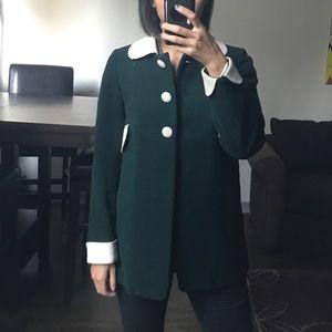 Jackets & Blazers - Peter Pan Collar Wool Coat