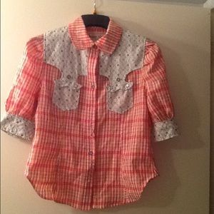 Sugar lips Tops - Western blouse size Large