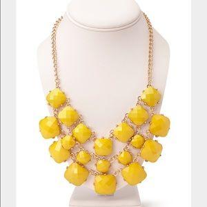 NWT Yellow Statement Bib Necklace
