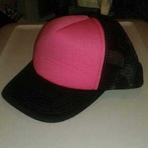 New HOT PINK black trucker hat raver party swag