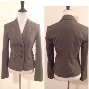 The Limited Jackets & Blazers - The Limited Fitted Taupe 3-Button Blazer