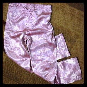 Victoria's Secret pink silky pj pants