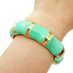 Read247 in Style  Jewelry - 📚 Bamboo Hinged Bangle - Mint