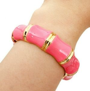Read247 in Style  Jewelry - 📚 Bamboo Hinged Bangle - Pink