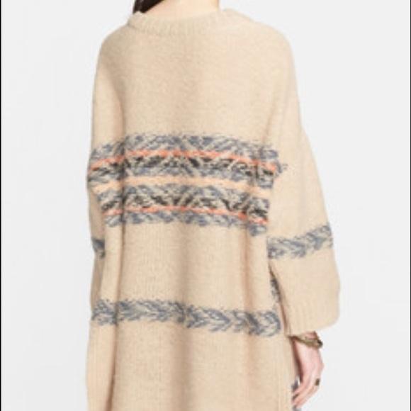60% off Free People Sweaters - Free people fair isle alpaca tunic ...