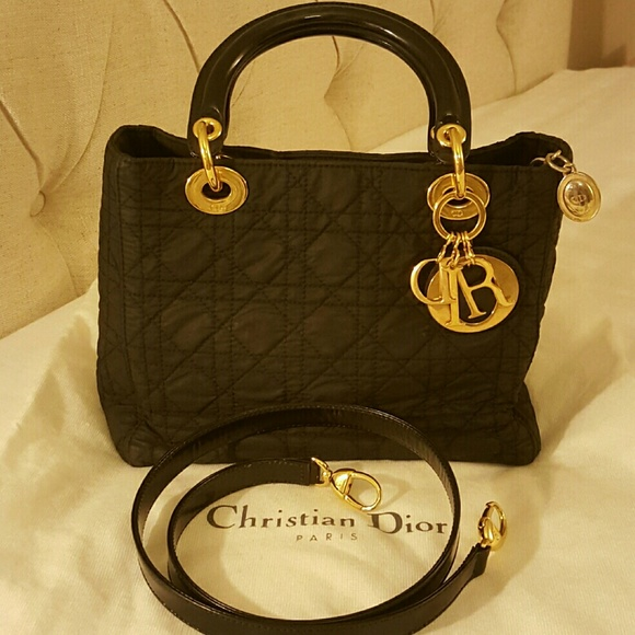 a7b062bee0ab1 Dior Bags | Sale Authentic Christian Lady Nylon Bag | Poshmark