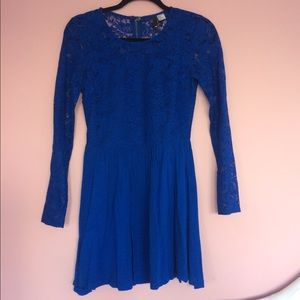 Bright blue lace dress
