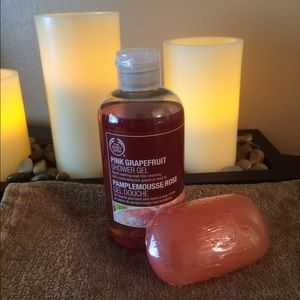 The Body Shop shower gel and matching soap