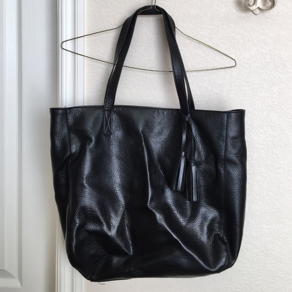 Old Navy Black Faux Leather Tote Bag. M 566f16fa15c8afe9d4064f22 ab8e2a9be2