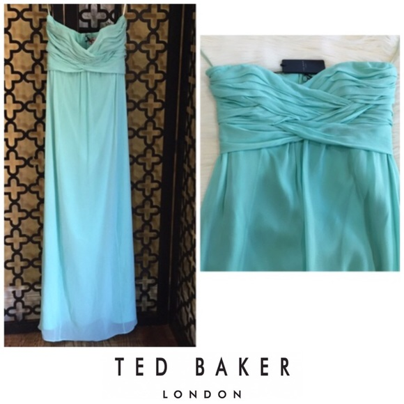 5d7728a84e12 Ted Baker Dresses | Reduced Cross Front Strapless Maxi | Poshmark
